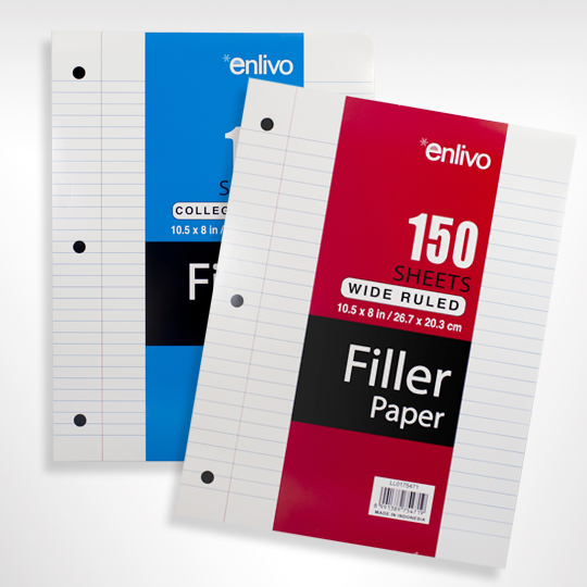 filler paper enlivo stationery product